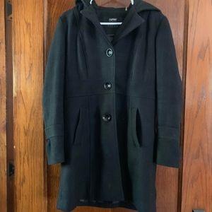 Grey Winter Coat with Hood